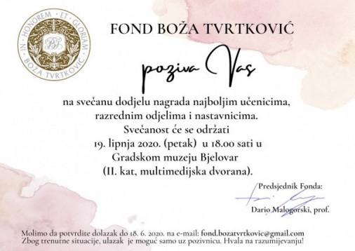 Dodjela nagrada Fonda 2019/20.